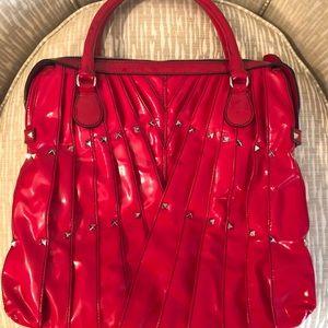 Valentino Garavani Bags - VALENTINO Red Bag Tote Rock Stud Maison Leather